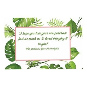 20 4x6 Banana leaves Thank you cards 🌴🌴🌴
